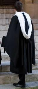 graduation gown S & W