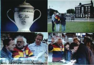 These images are incredibly naff, but are about all I can find on the web from the 'Time Team' dig in Burslem. I have my own images from the tiem, but can't put my hand on them at present. Note the late great Prof. Mick Aston in stripey fleece.
