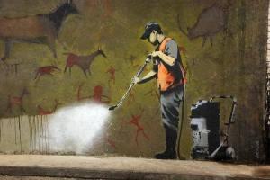 banksy cave art