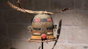 Acoma sacred mask. Image: AFP