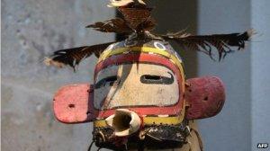 Heaume Korosto sacred mask. Image: AFP