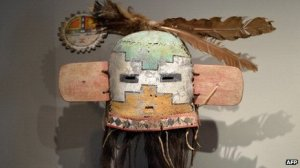 Hilili sacred mask. Image: AFP