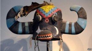 Ho-ote sacred mask. Image: AFP