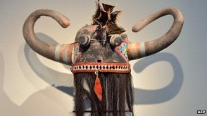 Wuyak-ku-ita sacred mask. Image: AFP