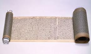 The original scroll manuscript of 'On the Road'. Image: theguardian.com