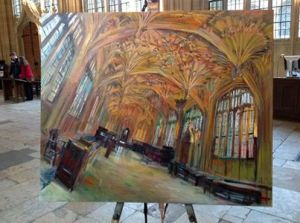 Interior of the Divinity School, Bodleian Library, Oxford, by Rob Pointon